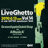 Live Ghetto Vol.14(= READER & SUE DJ SET =) 2010.6.13 (日) at club Ghetto(札幌)